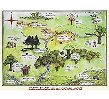 Hundred Acre Woods Map- Winnie the Pooh Photographic Print