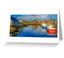 Peaceful Evening at Peggys Cove Greeting Card