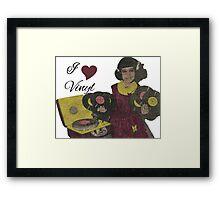 I heart Vinyl Framed Print