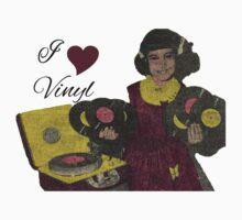 I heart Vinyl One Piece - Short Sleeve