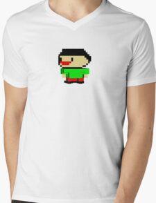 David's Manyland Character Mens V-Neck T-Shirt