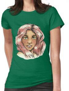Pink Haired Girl Womens Fitted T-Shirt
