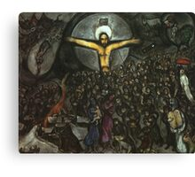 Jesus in the style of Chagall Canvas Print