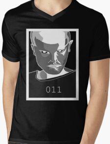 Inverted Eleven Stranger Things Grayscale Digital Art Mens V-Neck T-Shirt