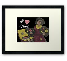 I love Vinyl Framed Print