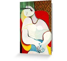 Dream in the style of picasso - 3 Greeting Card