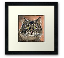 """Maine Coon Cat Painting, """"Emma"""" Framed Print"""