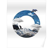 A circle of mountain and sea Poster