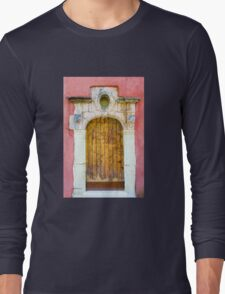 Vintage door in Bormes les Mimosas, France Long Sleeve T-Shirt