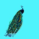 Peacock Art Vintage Peacock Illustration by Greenbaby