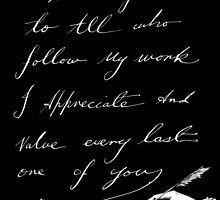 thanks to all by Loui  Jover