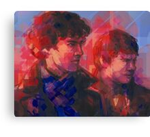 Sherlock - With John Canvas Print
