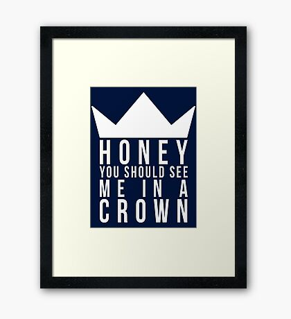 Jim Moriarty Quote Framed Print