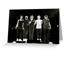 One Direction- Up Close Greeting Card