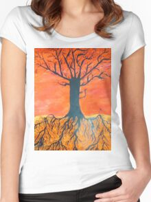 Ink tree (Cross-section) Women's Fitted Scoop T-Shirt