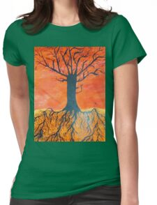 Ink tree (Cross-section) Womens Fitted T-Shirt