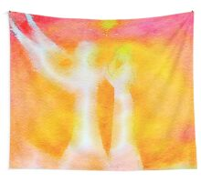 Angel of GOD hear my prayer. water color painting, beautiful,spiritual art Wall Tapestry