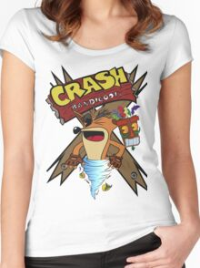 Old Timey Crash Bandicoot Women's Fitted Scoop T-Shirt