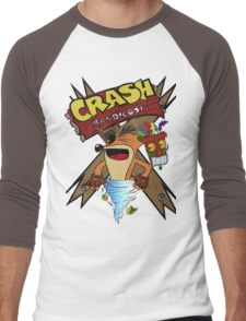 Old Timey Crash Bandicoot Men's Baseball ¾ T-Shirt