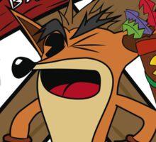 Old Timey Crash Bandicoot Sticker