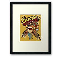 Old Timey Crash Bandicoot Framed Print