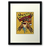 Old Timey Crash Bandicoot Framed Print