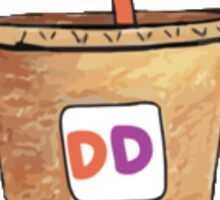 Dunkin Donuts Large Iced Coffee Sticker