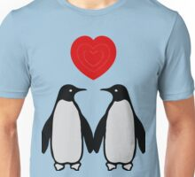 Penguins in love Unisex T-Shirt