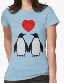 Penguins in love Womens Fitted T-Shirt