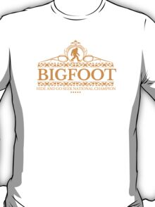 Orange Bigfoot Hide And Go Seek National Champion T-Shirt
