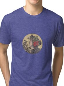 Embroidered Summer - L'été Tri-blend T-Shirt