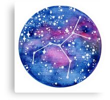 Virgo Constellation Canvas Print