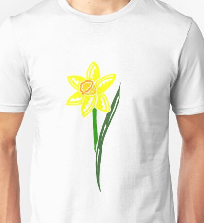 Daffodil Tribal Design - Colored Unisex T-Shirt