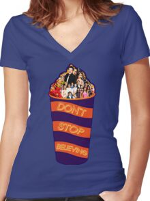 Slushie Cup || Glee Women's Fitted V-Neck T-Shirt