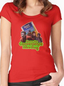 Above the Convenience Store Gang Women's Fitted Scoop T-Shirt