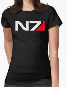 n7 mass effect Womens Fitted T-Shirt