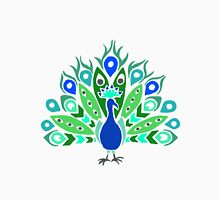 Peacock Tribal Design - Colored Unisex T-Shirt