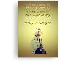 Jem Carstairs Heart Quote TID Canvas Print
