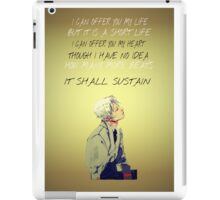 Jem Carstairs Heart Quote TID iPad Case/Skin