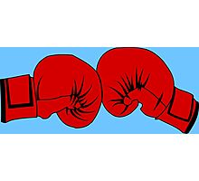 Boxing Gloves Photographic Print