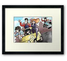 Lupin III Car Chase Framed Print