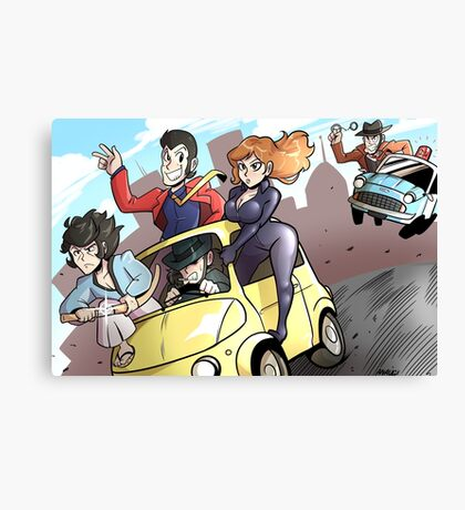 Lupin III Car Chase Canvas Print