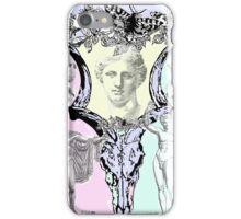 Greek gods in post punk skull mashup iPhone Case/Skin