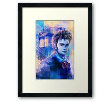 10 - Blue Framed Print