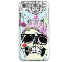 Hipster skull mashup iPhone Case/Skin