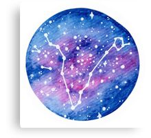 Pisces Constellation Canvas Print