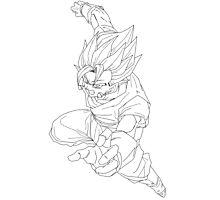 Goku Fusion with Vageta  Photographic Print