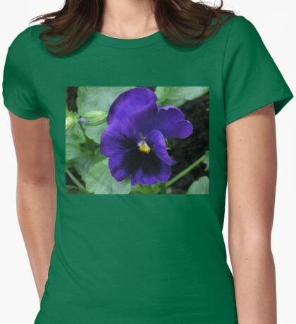 Little Purple Pansy Womens Fitted T-Shirt