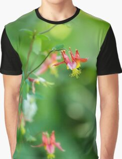 Wild Columbine of Mt Rainier Vertical Graphic T-Shirt