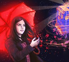 Clara - Tardis in the Wind by Sempaiko